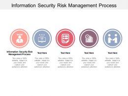 Information Security Risk Management Process Ppt Powerpoint Presentation Slides Cpb