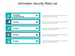 Information Security Risks List Ppt Powerpoint Slides Cpb