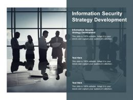 Information Security Strategy Development Ppt Powerpoint Presentation Gallery Cpb