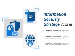 Information Security Strategy Icons