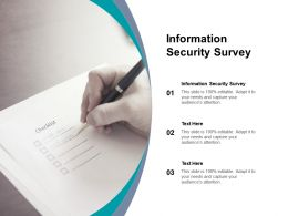 Information Security Survey Ppt Powerpoint Presentation Professional Show Cpb