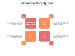 Information Security Team Ppt Powerpoint Presentation Gallery Design Inspiration Cpb