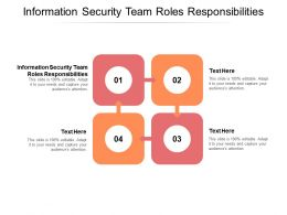 Information Security Team Roles Responsibilities Ppt Powerpoint Presentation Outline Infographic Template Cpb
