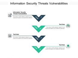 Information Security Threats Vulnerabilities Ppt Powerpoint Presentation Infographic Template Microsoft Cpb