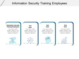 Information Security Training Employees Ppt Powerpoint Presentation Summary Background Cpb
