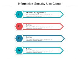 Information Security Use Cases Ppt Powerpoint Presentation Inspiration Brochure Cpb
