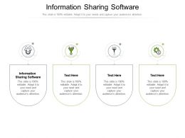 Information Sharing Software Ppt Powerpoint Presentation Infographics Backgrounds Cpb