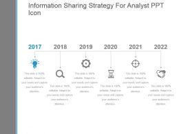 Information Sharing Strategy For Analyst Ppt Icon