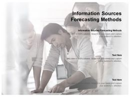 Information Sources Forecasting Methods Ppt Powerpoint Presentation Pictures Guidelines Cpb