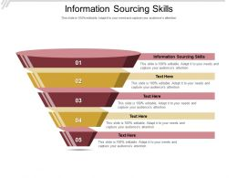 Information Sourcing Skills Ppt Powerpoint Presentation Inspiration Aids Cpb