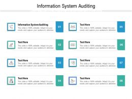 Information System Auditing Ppt Powerpoint Presentation Gallery Icons Cpb