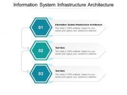Information System Infrastructure Architecture Ppt Powerpoint Presentation Portfolio Ideas Cpb