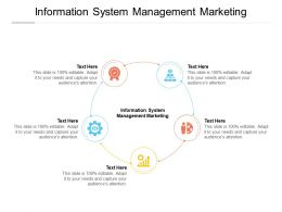 Information System Management Marketing Ppt Powerpoint Presentation Icon Cpb