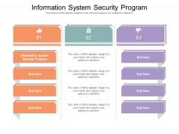 Information System Security Program Ppt Powerpoint Presentation File Samples Cpb