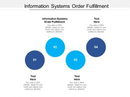 Information Systems Order Fulfillment Ppt Powerpoint Presentation Slides Layout Cpb
