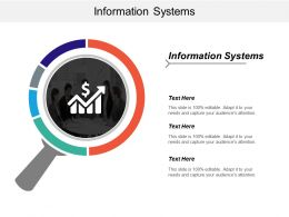 Information Systems Ppt Powerpoint Presentation Ideas Background Image Cpb