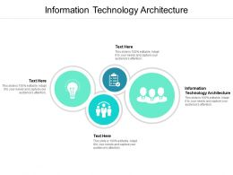 Information Technology Architecture Ppt Powerpoint Presentation Ideas Cpb