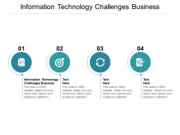 Information Technology Challenges Business Ppt Powerpoint Presentation Summary Samples Cpb