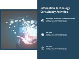 Information Technology Consultancy Activities Ppt Powerpoint Infographics Cpb