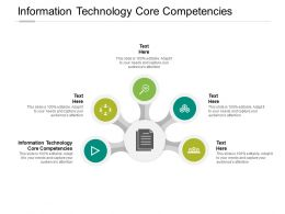Information Technology Core Competencies Ppt Powerpoint Presentation Infographics Cpb