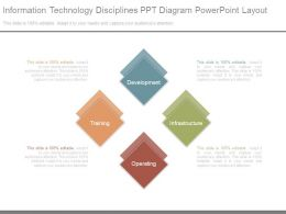 Information Technology Disciplines Ppt Diagram Powerpoint Layout