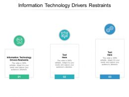 Information Technology Drivers Restraints Ppt Powerpoint Presentation Ideas Slideshow Cpb