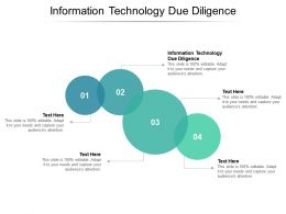 Information Technology Due Diligence Ppt Powerpoint Presentation Icon Pictures Cpb