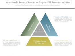 Information Technology Governance Diagram Ppt Presentation Slides