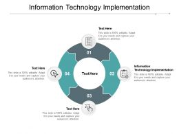 Information Technology Implementation Ppt Powerpoint Presentation Styles Diagrams Cpb