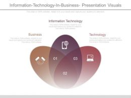 Information Technology In Business Presentation Visuals