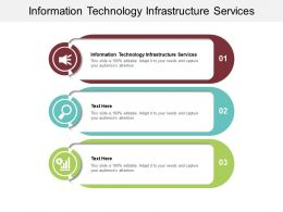 Information Technology Infrastructure Services Ppt Powerpoint Presentation Summary Template Cpb