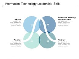 Information Technology Leadership Skills Ppt Powerpoint Presentation Summary Cpb