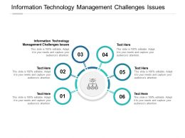 Information Technology Management Challenges Issues Ppt Powerpoint File Cpb