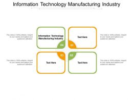 Information Technology Manufacturing Industry Ppt Powerpoint Presentation Cpb