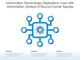 Information Technology Operations Icon With Automation Symbol In Round Corner Square
