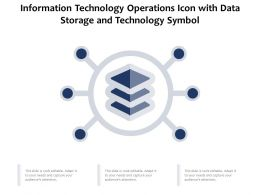 Information Technology Operations Icon With Data Storage And Technology Symbol
