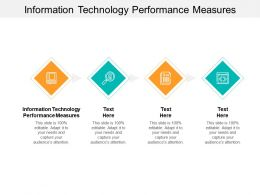Information Technology Performance Measures Ppt Powerpoint Presentation Show Cpb