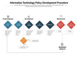 Information Technology Policy Development Procedure
