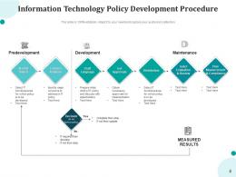 Information Technology Policy Governance Framework Process Development Management