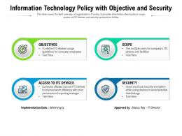 Information Technology Policy With Objective And Security