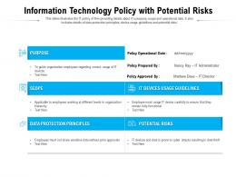 Information Technology Policy With Potential Risks