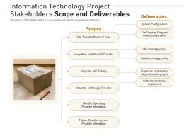 Information Technology Project Stakeholders Scope And Deliverables