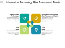 Information Technology Risk Assessment Matrix Kaizen Tools Techniques Cpb