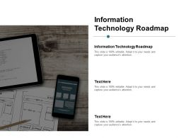 Information Technology Roadmap Ppt Powerpoint Presentation Pictures Graphics Cpb