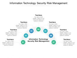Information Technology Security Risk Management Ppt Powerpoint Presentation Portfolio Cpb