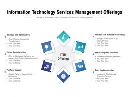 Information Technology Services Management Offerings