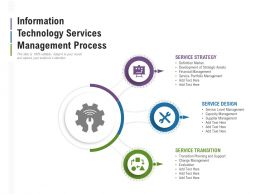 Information Technology Services Management Process