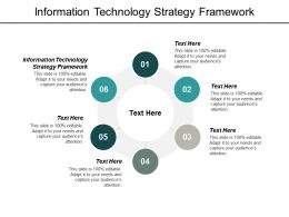 Information Technology Strategy Framework Ppt Powerpoint Presentation Outline Slideshow Cpb
