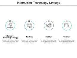 Information Technology Strategy Ppt Powerpoint Presentation Layouts Inspiration Cpb