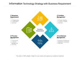 Information Technology Strategy With Business Requirement